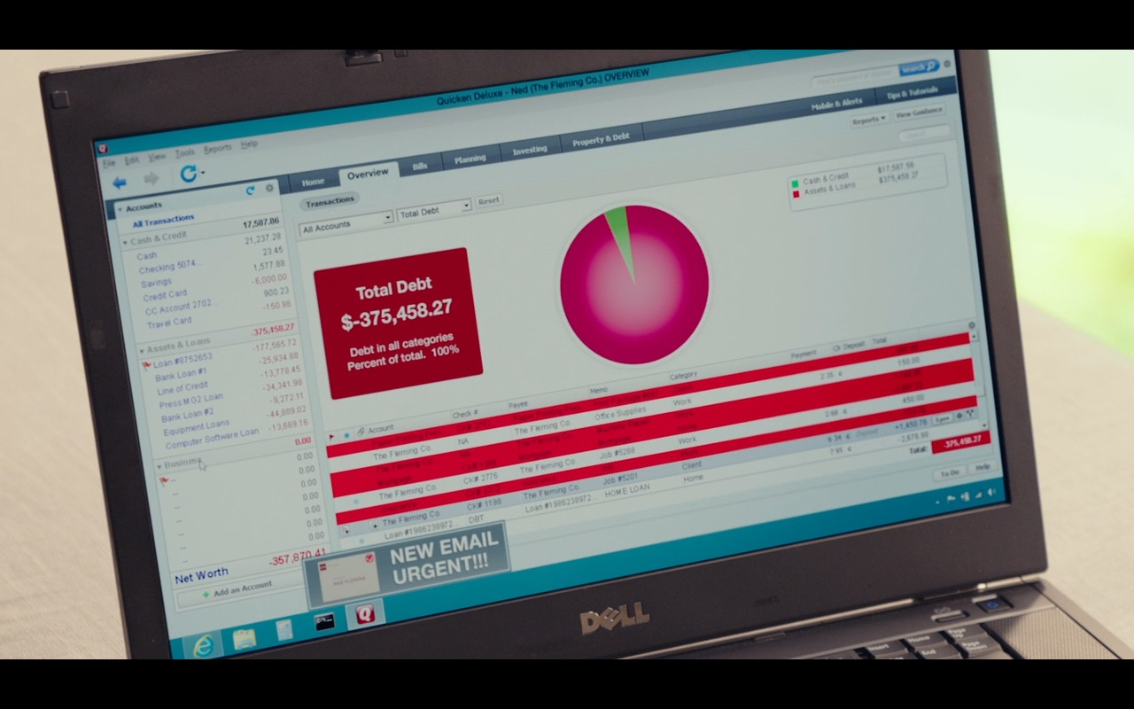 Dell Laptop And Quicken Software – Why Him? (2016) - Movie Product Placement