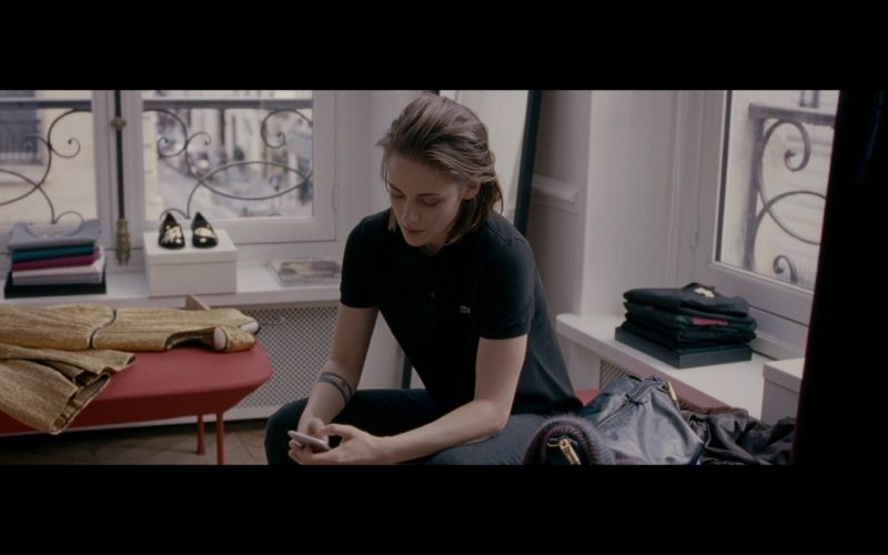 Kristen Stewart And Lacoste Black Polo Shirt – Personal Shopper 2016 (1)