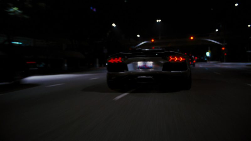 Lamborghini Aventador LP 700-4 Sports Car driven by Christian Bale in The Dark Knight Rises (2012) - Movie Product Placement