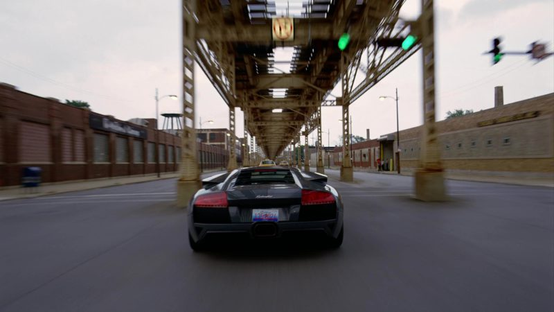 Lamborghini Murciélago LP640 driven by Christian Bale in The Dark Knight (2008) - Movie Product Placement
