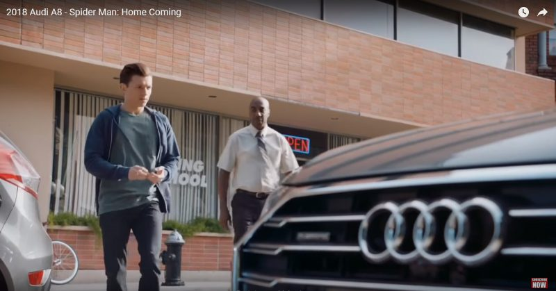 New Audi A8 - Spider-Man: Homecoming (2017) 🎬 Product Placement