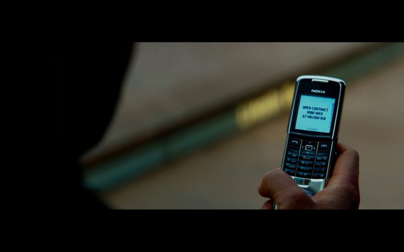 Nokia 8800 – John Wick: Chapter 2 (2017) Movie Product Placement