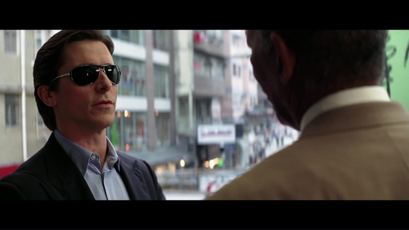 Ray-Ban Sunglasses (3324) worn by Christian Bale in THE DARK KNIGHT (2008) Movie Product Placement