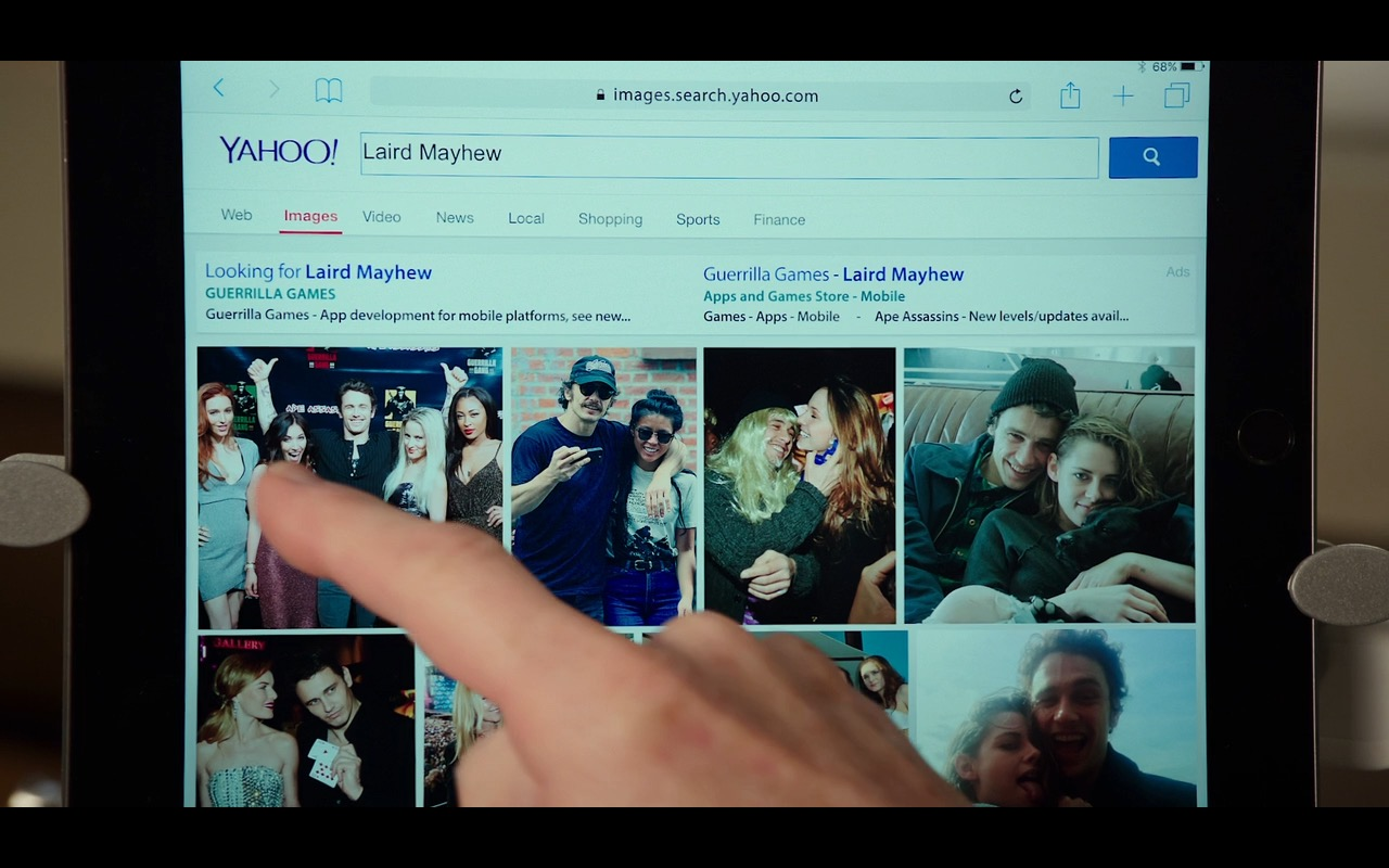 Yahoo! WEB Search – Why Him? (2016) Movie Product Placement