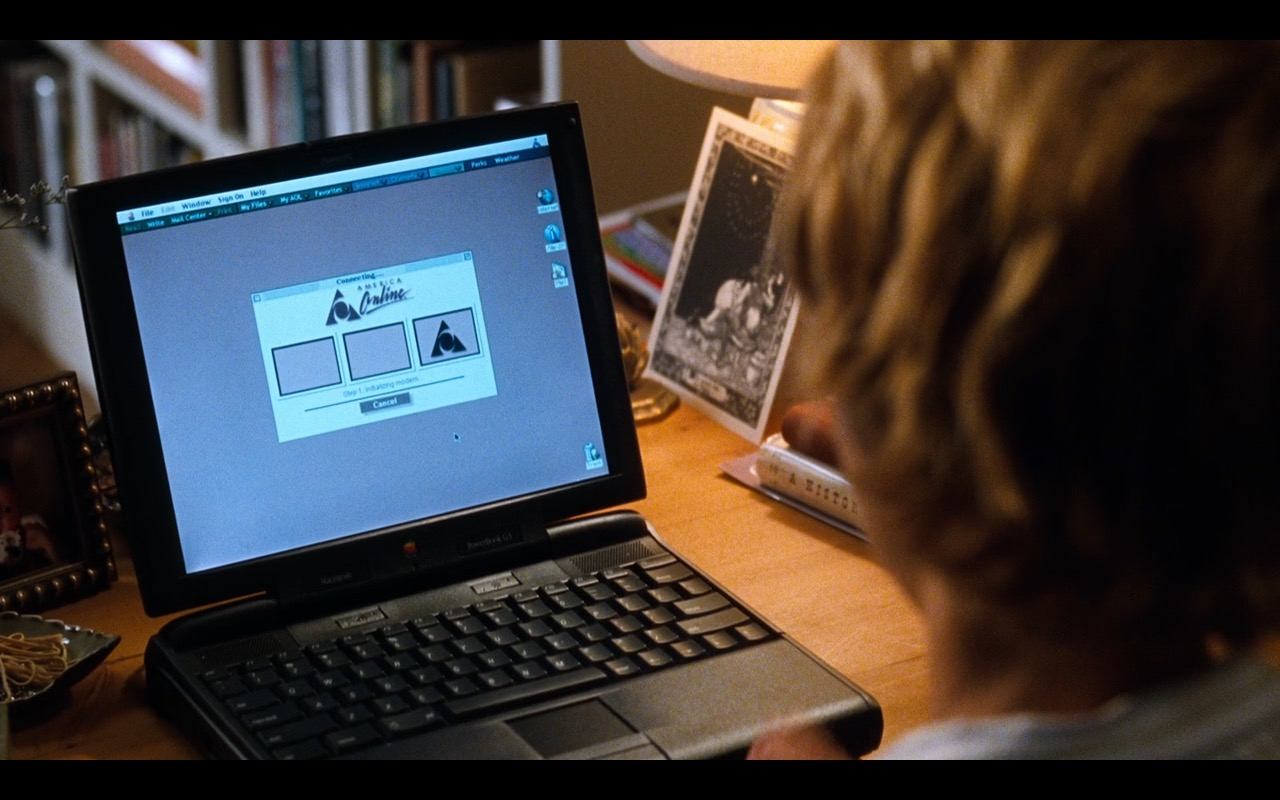 AOL & Apple Macintosh Powerbook G3 -  You've Got Mail (1998) Movie Product Placement