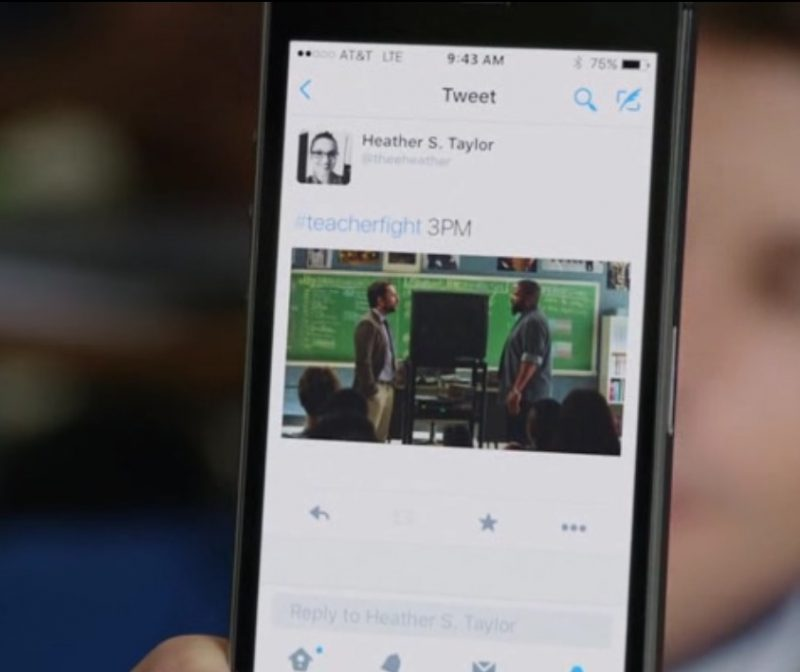 AT&T And Twitter App - Fist Fight (2017) Movie Product Placement