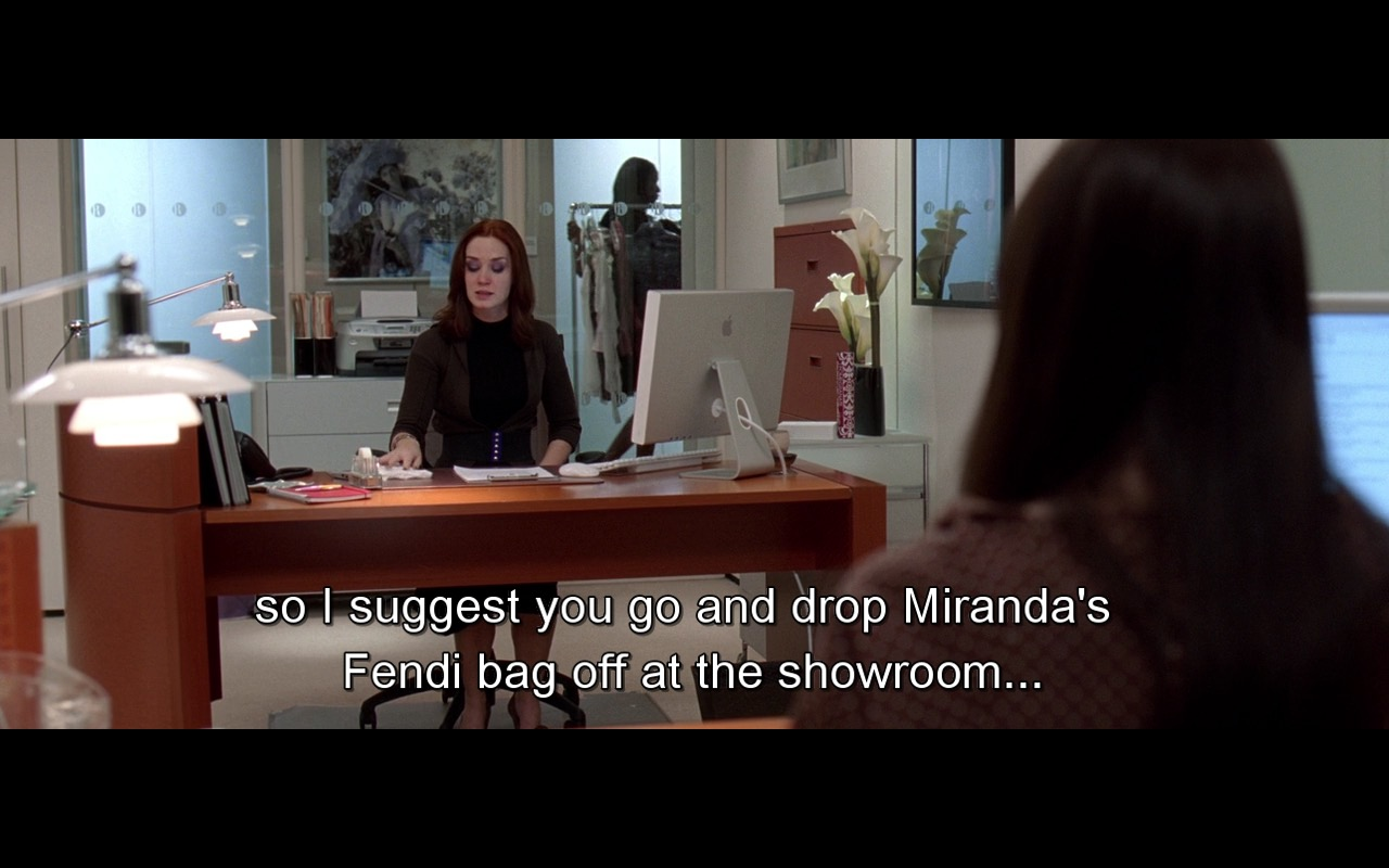 Apple Monitor And Fendi Bag - The Devil Wears Prada (2006) - Movie Product Placement