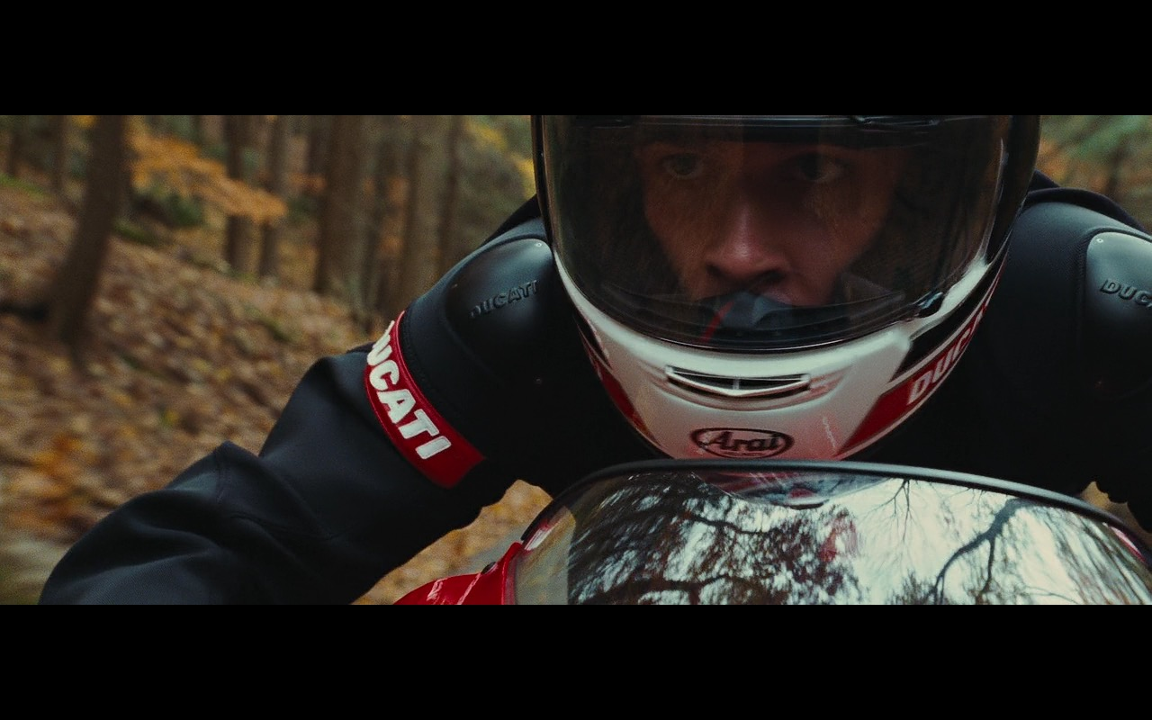 Arai Helmet and Ducati Motorcycle Gear  – Wall Street: Money Never Sleeps (2010) Movie Product Placement