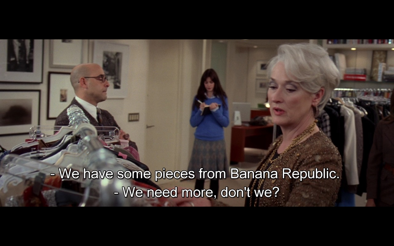 Banana Republic - The Devil Wears Prada (2006) Movie Product Placement
