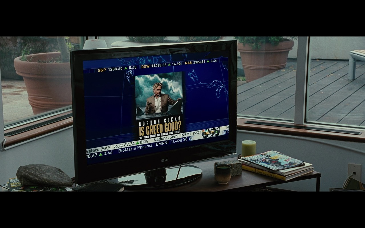 CNBC TV channel and LG TV - Wall Street: Money Never Sleeps (2010) - Movie Product Placement
