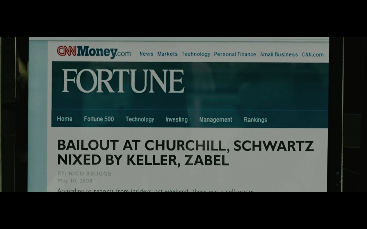 CNNMoney & Fortune - Wall Street: Money Never Sleeps (2010) Movie Product Placement