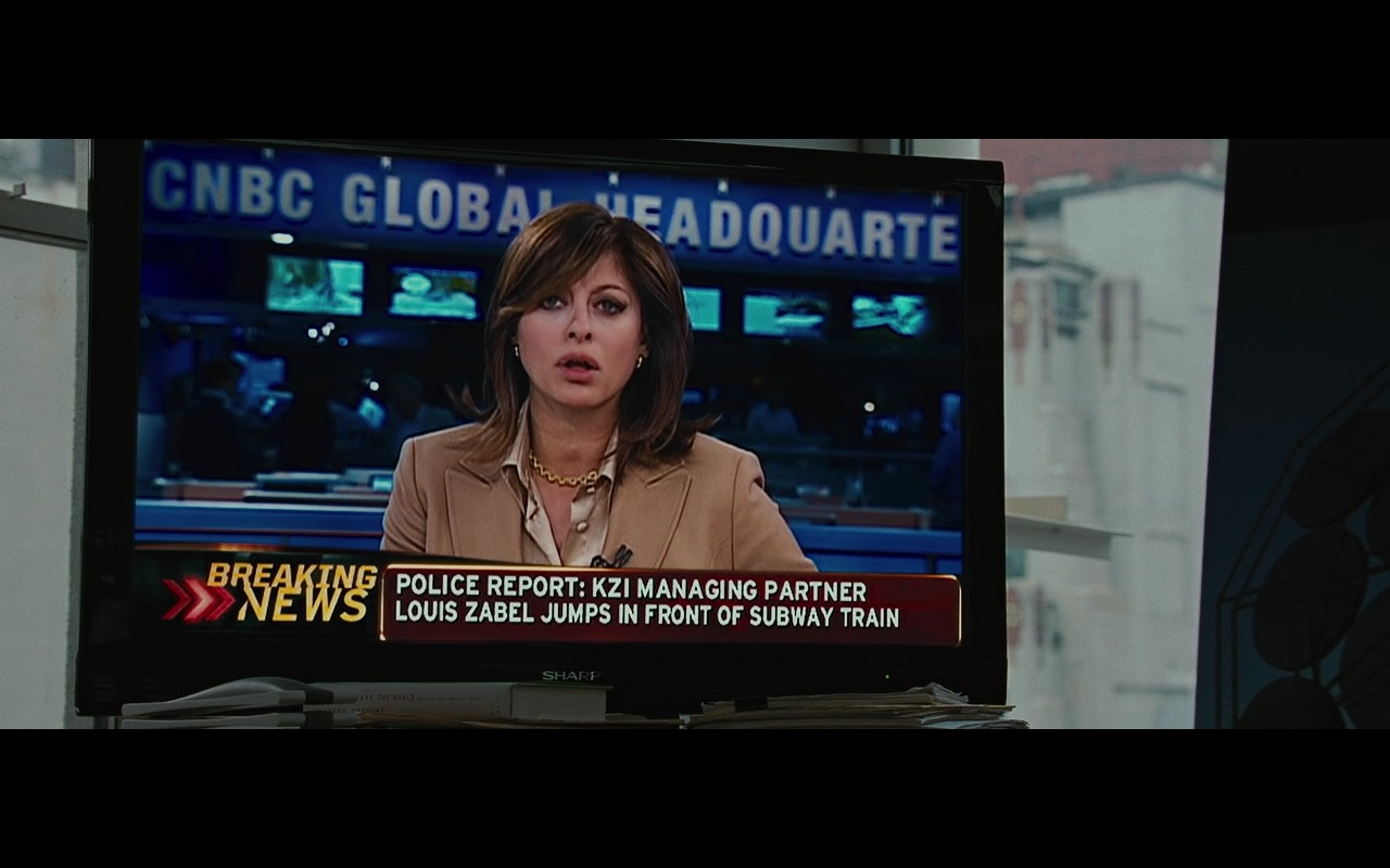 CNBC TV channel and Sharp TV - Wall Street: Money Never Sleeps (2010) - Movie Product Placement