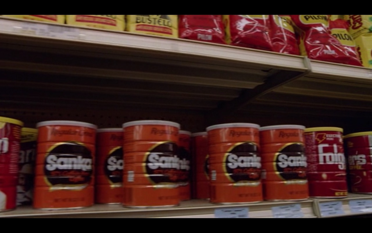 Café Bustelo, Café Pilon, Sanka and Folgers Coffee – Moscow on the Hudson (1984) Movie Product Placement
