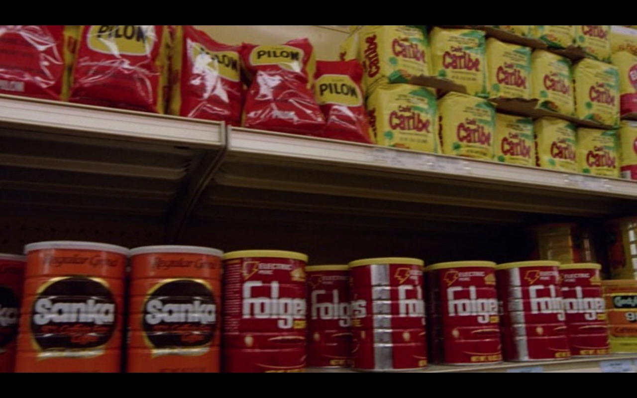 Café Pilon, Sanka, Folgers Coffee and Café Caribe – Moscow on the Hudson (1984) Movie Product Placement