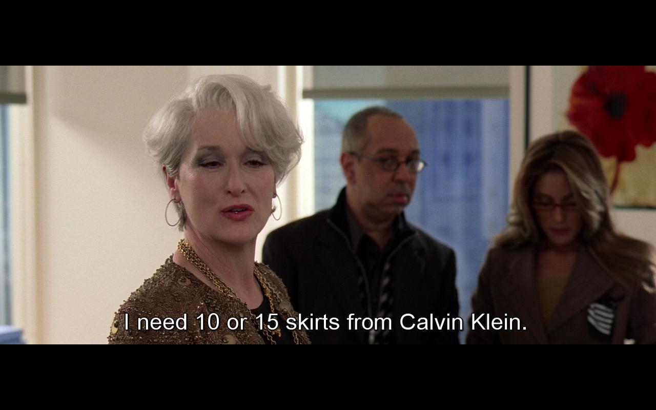 Calvin Klein - The Devil Wears Prada (2006) - Movie Product Placement