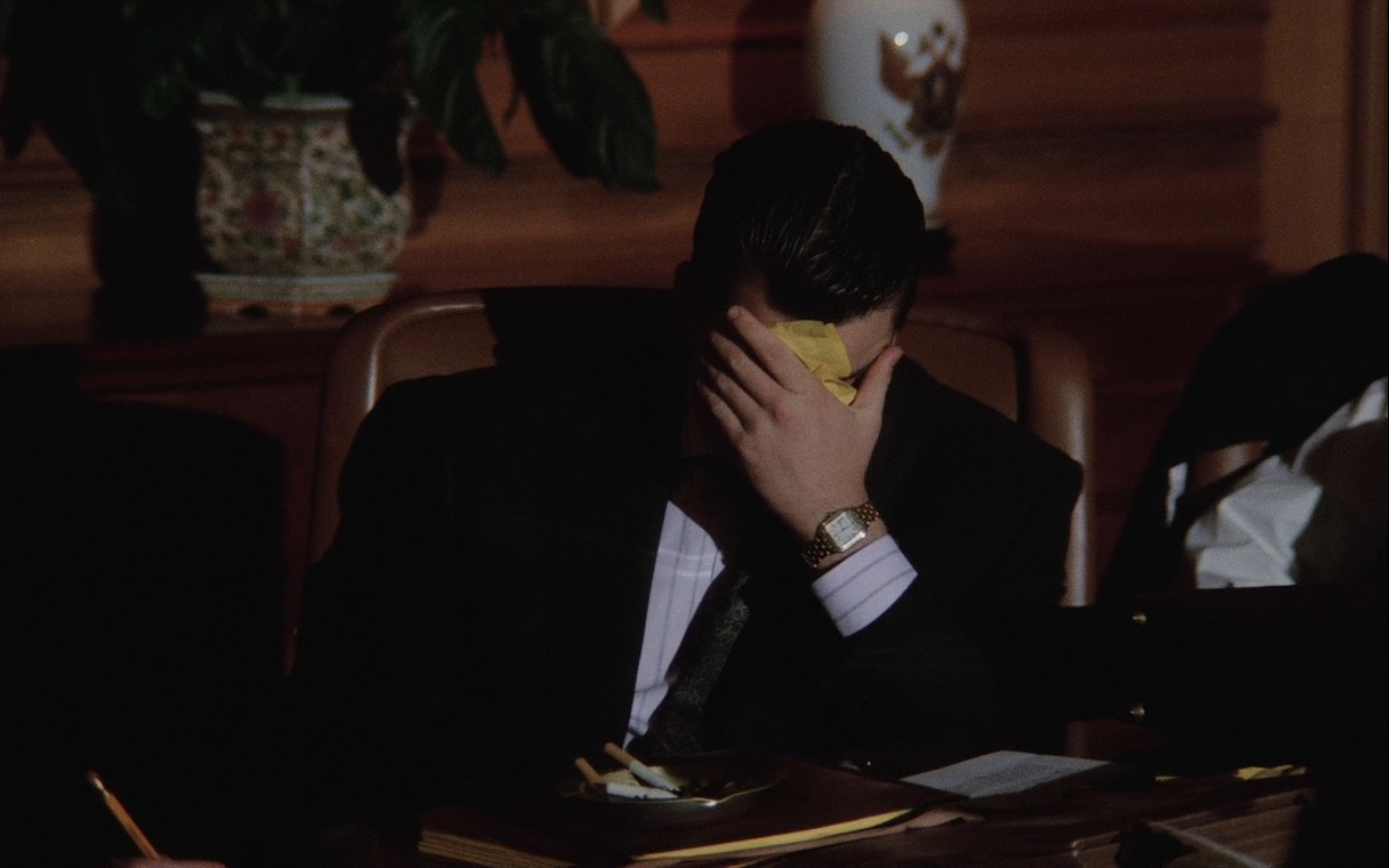 """Cartier Watch (""""Panthere"""") Worn by Charlie Sheen in Wall Street (1987) Movie Product Placement"""