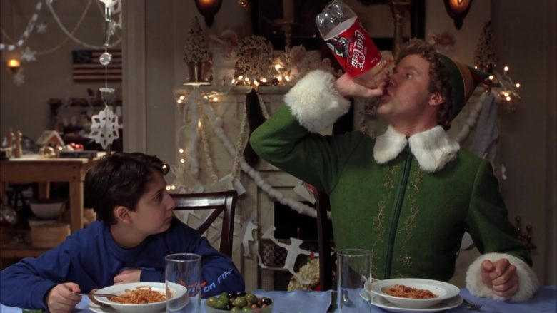 Coca-Cola Soda Enjoyed by Will Ferrell in ELF (2003) - Movie Product Placement