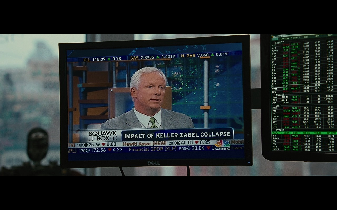 DELL TV, CNBC And Squawk Box – Wall Street: Money Never Sleeps (2010) Movie Product Placement