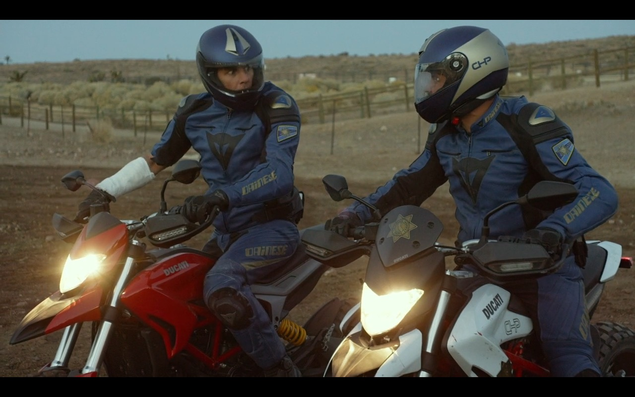 Dainese Clothing And Ducati Bikes – CHIPS (2017) Movie Product Placement