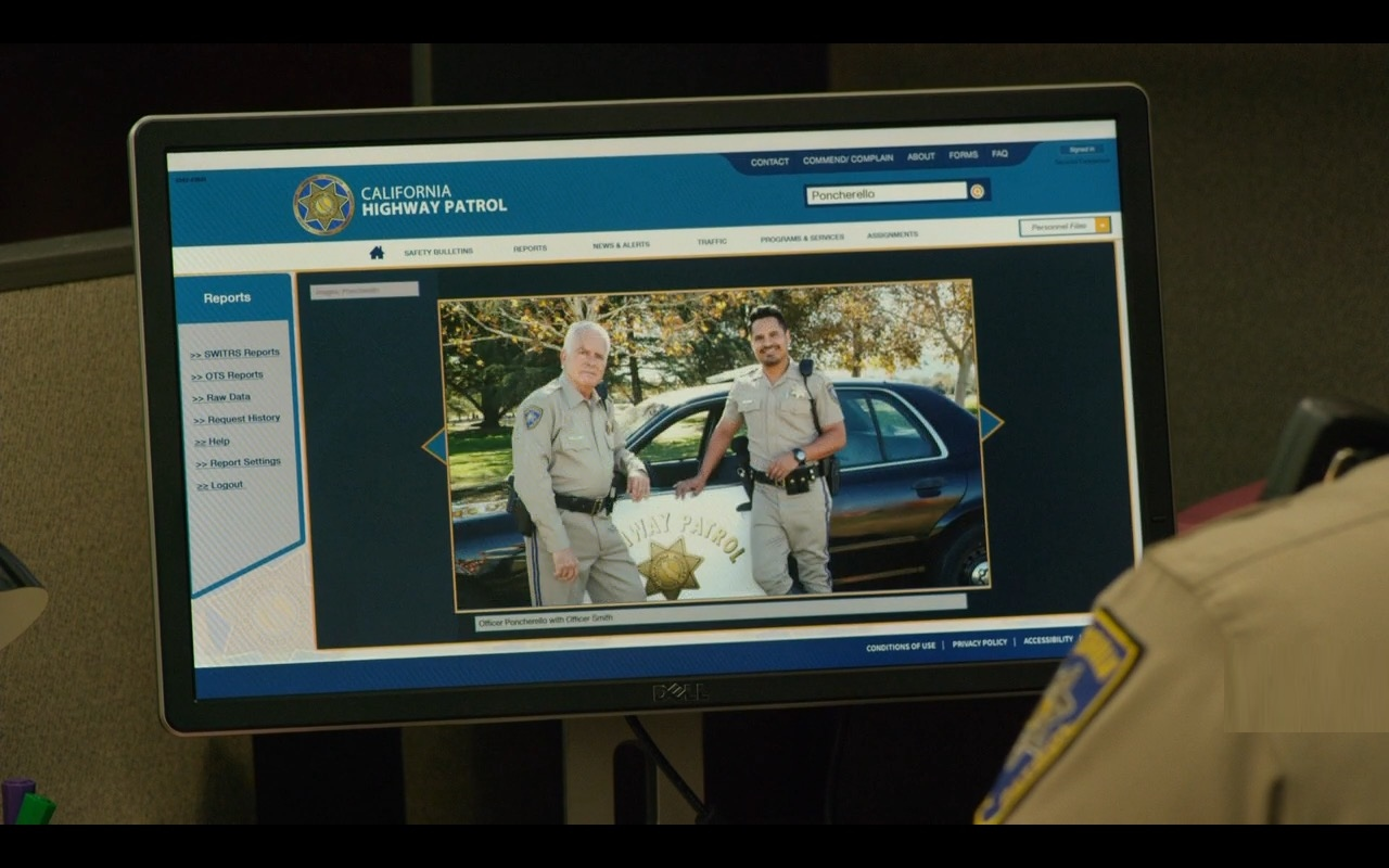 Dell Monitors – CHIPS (2017) Movie Product Placement