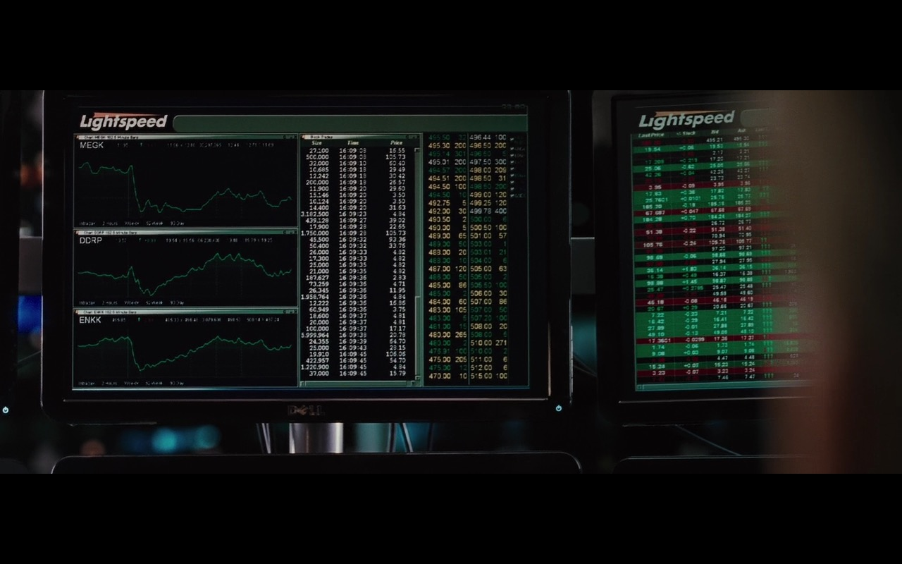 Dell Monitors and Lightspeed Trading – Wall Street: Money Never Sleeps (2010) Movie Product Placement