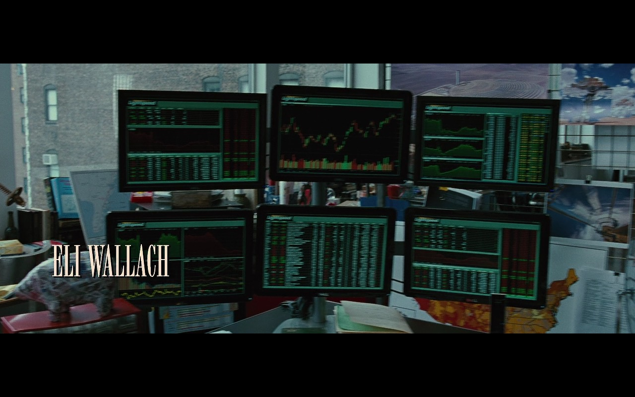 Dell Monitors and Lightspeed Trading – Wall Street: Money Never Sleeps (2010) - Movie Product Placement
