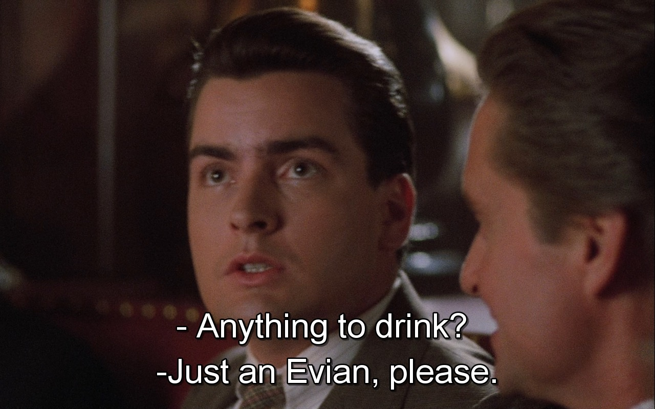 Evian Water - Wall Street (1987) Movie Product Placement