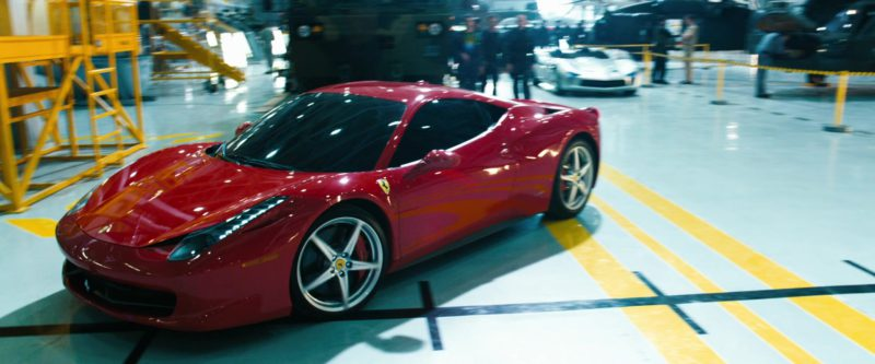 Ferrari 458 Italia Red Sports Car in TRANSFORMERS: DARK OF THE MOON (2011) Movie Product Placement
