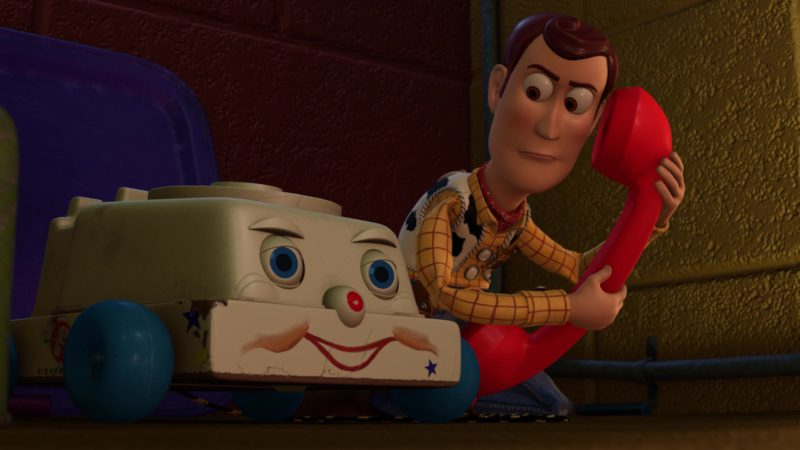 Fisher-Price Chatter Telephone in Toy Story 3 (2010) Animation Movie Product Placement