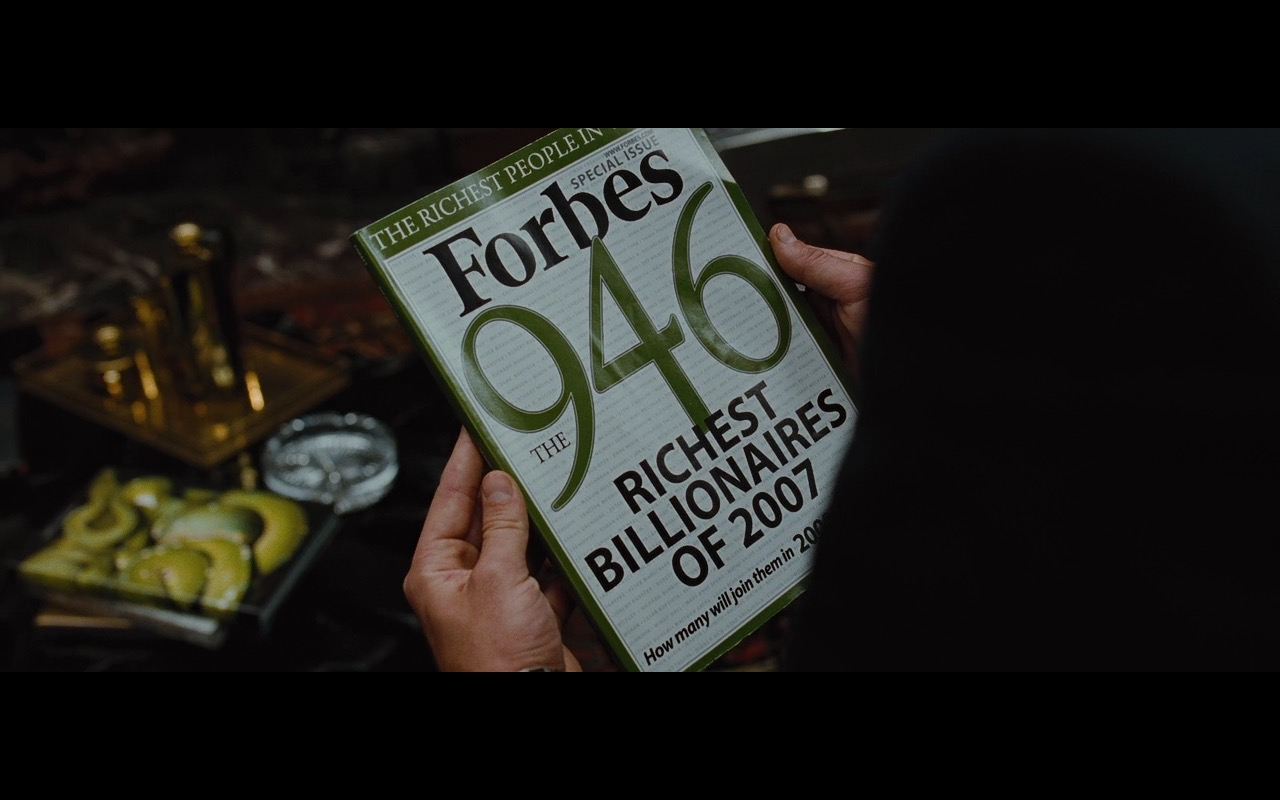 Forbes Magazine - Wall Street: Money Never Sleeps (2010) Movie Product Placement