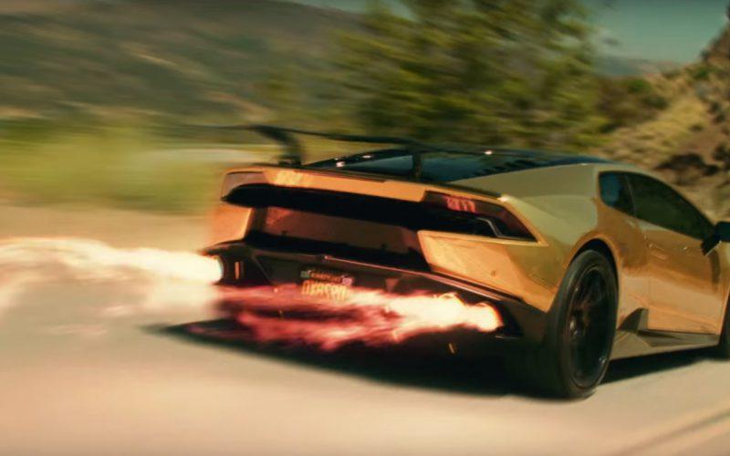 Gold Lamborghini Huracán – Travis Scott – Butterfly Effect (1)