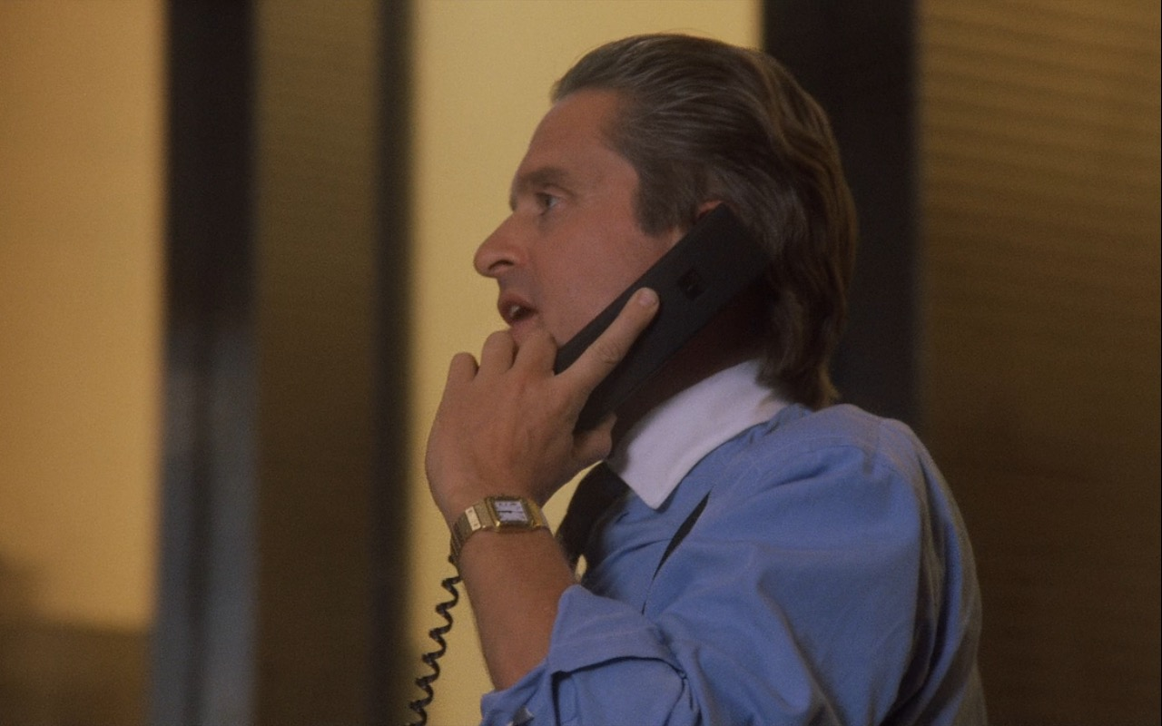 Gordon Gekko 18k Cartier Panthere Watches - Wall Street (1987) Movie Product Placement