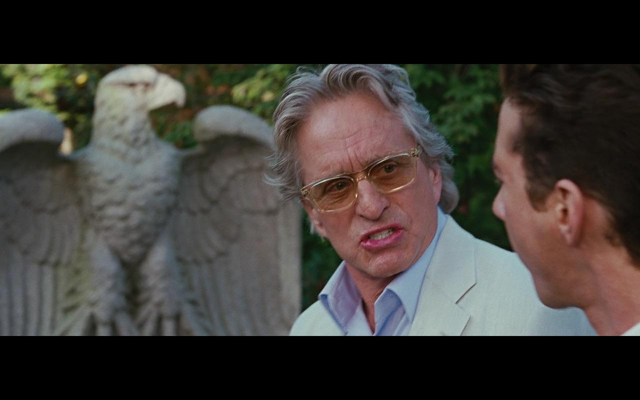 Barton Perreira Eyeglasses Worn by Michael Douglas (Gordon Gekko) in Wall Street: Money Never Sleeps (2010) Movie Product Placement