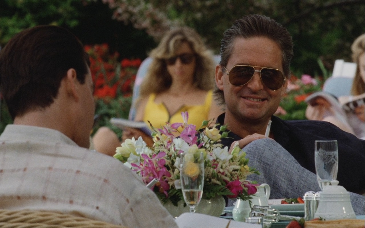 Cartier Sunglasses Worn by Michael Douglas (Gordon Gekko) in Wall Street (1987) Movie Product Placement