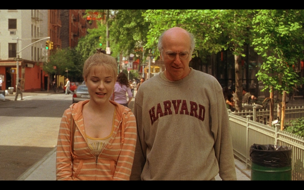 Harvard University Sweatshirt – Whatever Works (2009) Movie Product Placement