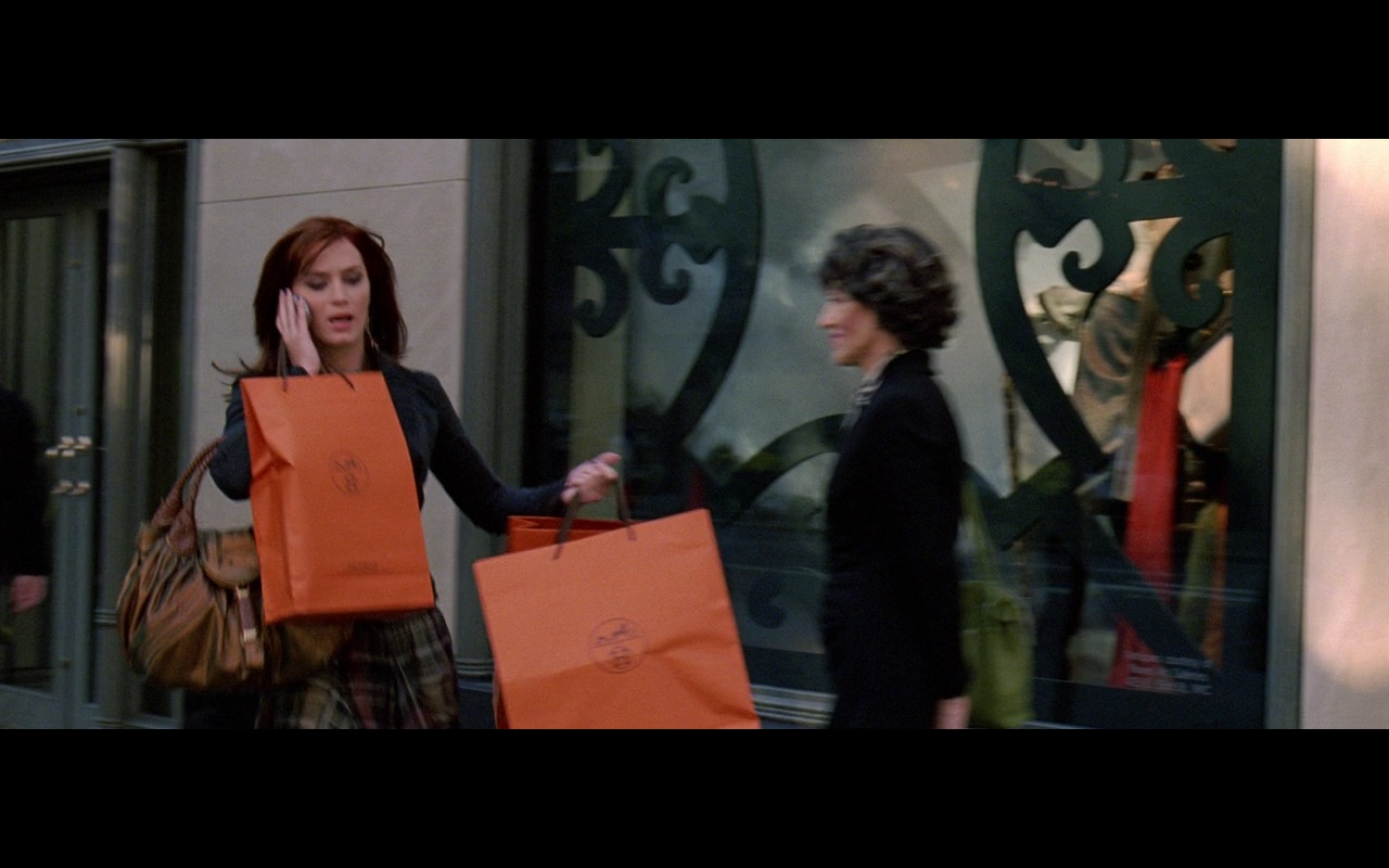 Hermes Scarves And Paper Bags - The Devil Wears Prada (2006) Movie Product Placement
