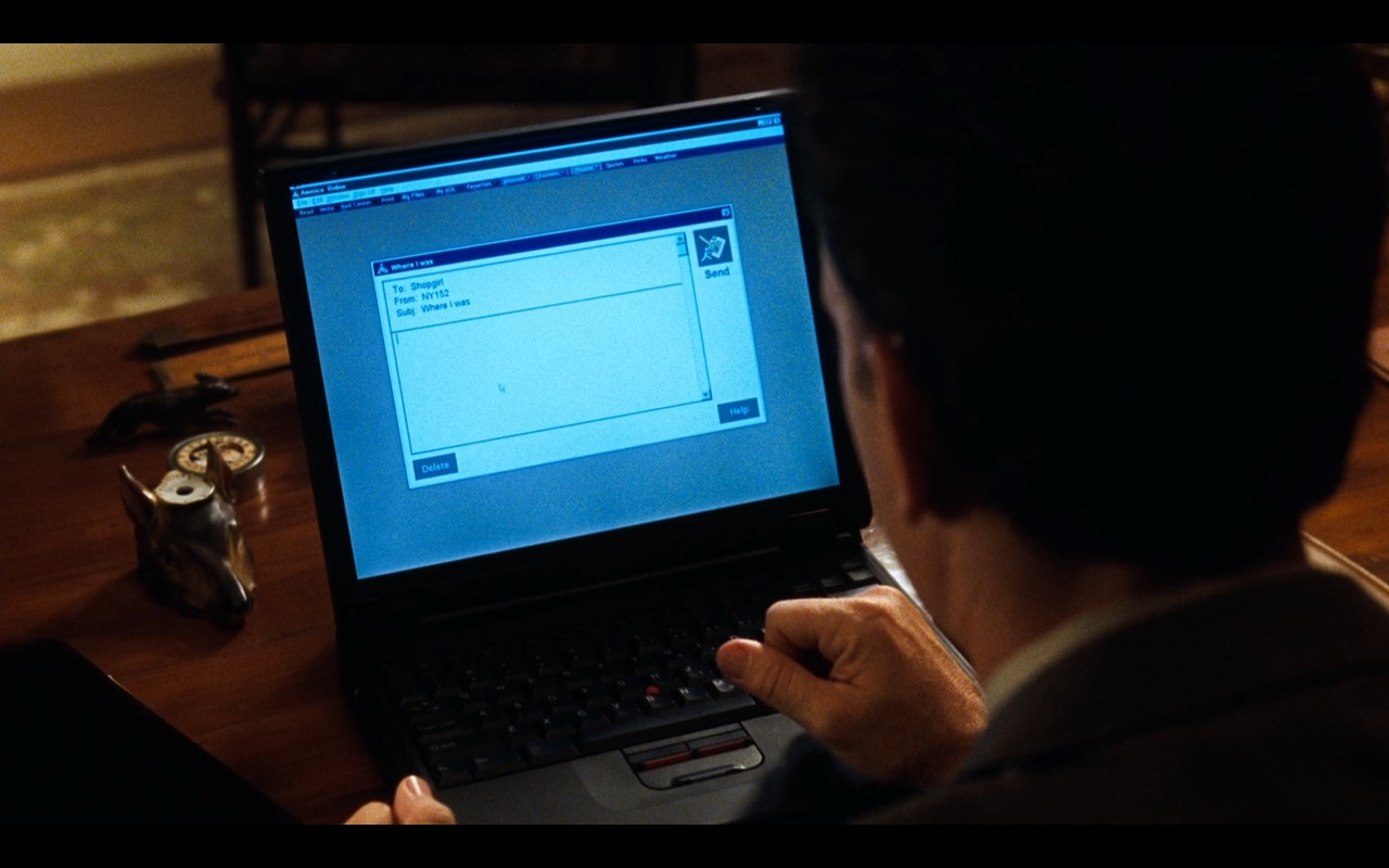 IBM ThinkPad Notebook – You've Got Mail (1998) Movie Product Placement