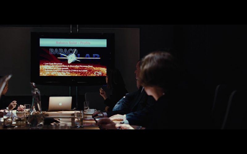 LG TV & Apple MacBook Pro – Wall Street: Money Never Sleeps (2010) Movie Product Placement