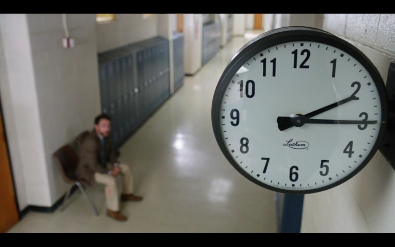 Lathem SCHOOL ROOM Time Wall Clock - Fist Fight (2017) - Movie Product Placement