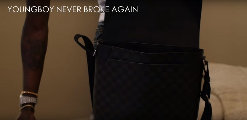 Louis Vuitton Men's Bag - YoungBoy Never Broke Again - Graffiti (2017) Official Music Video Product Placement