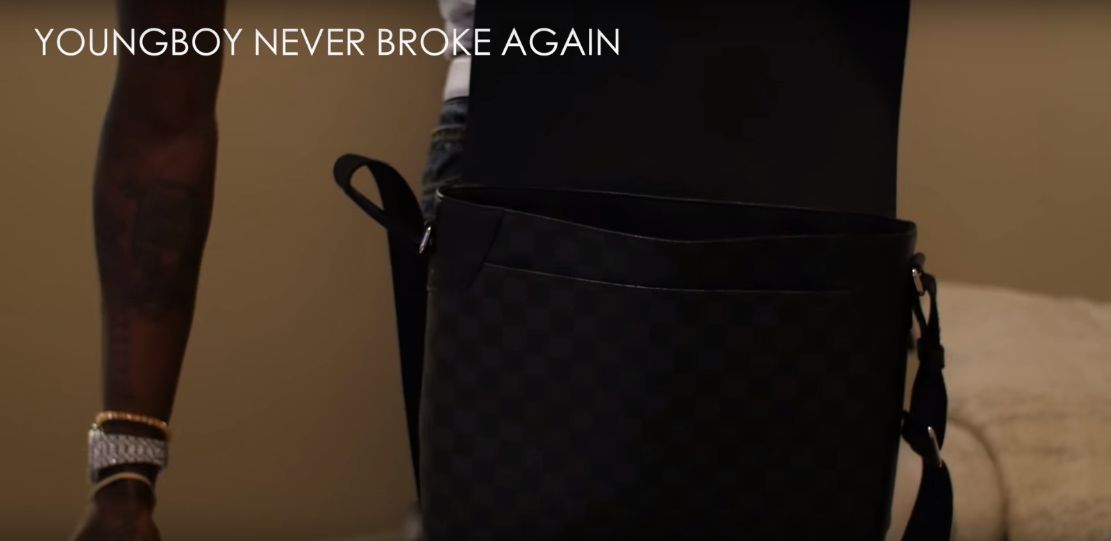 Louis Vuitton Men's Bag - YoungBoy Never Broke Again - Graffiti (2017) - Official Music Video Product Placement