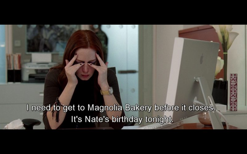 Magnolia Bakery And Apple Monitor – The Devil Wears Prada (2006)