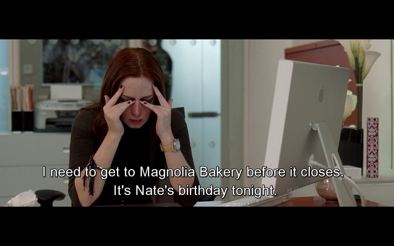 Magnolia Bakery And Apple Monitor – The Devil Wears Prada (2006) Movie Product Placement