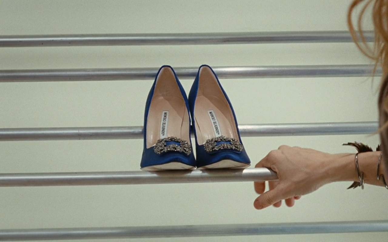 Carrie Bradshaw's Wedding Shoes Those Blue Manolo Blahniks Shopstyle