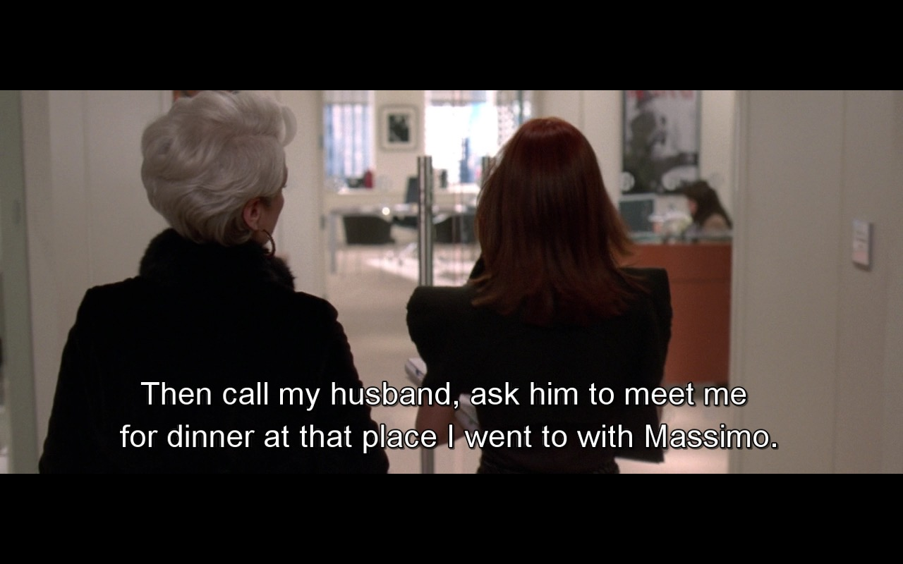 Massimo Dutti – The Devil Wears Prada (2006) Movie Product Placement