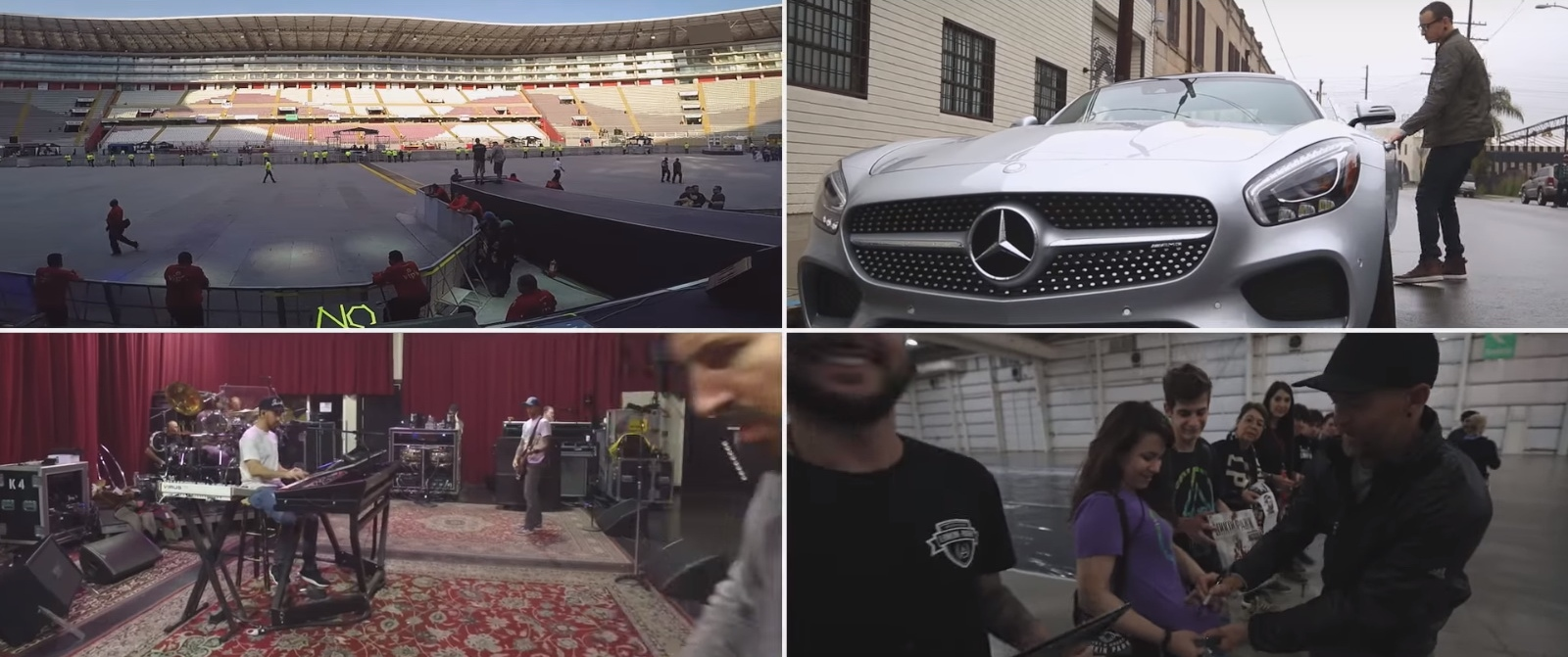 Mercedes-AMG GT - Linkin Park - Talking To Myself Official Music Video Product Placement