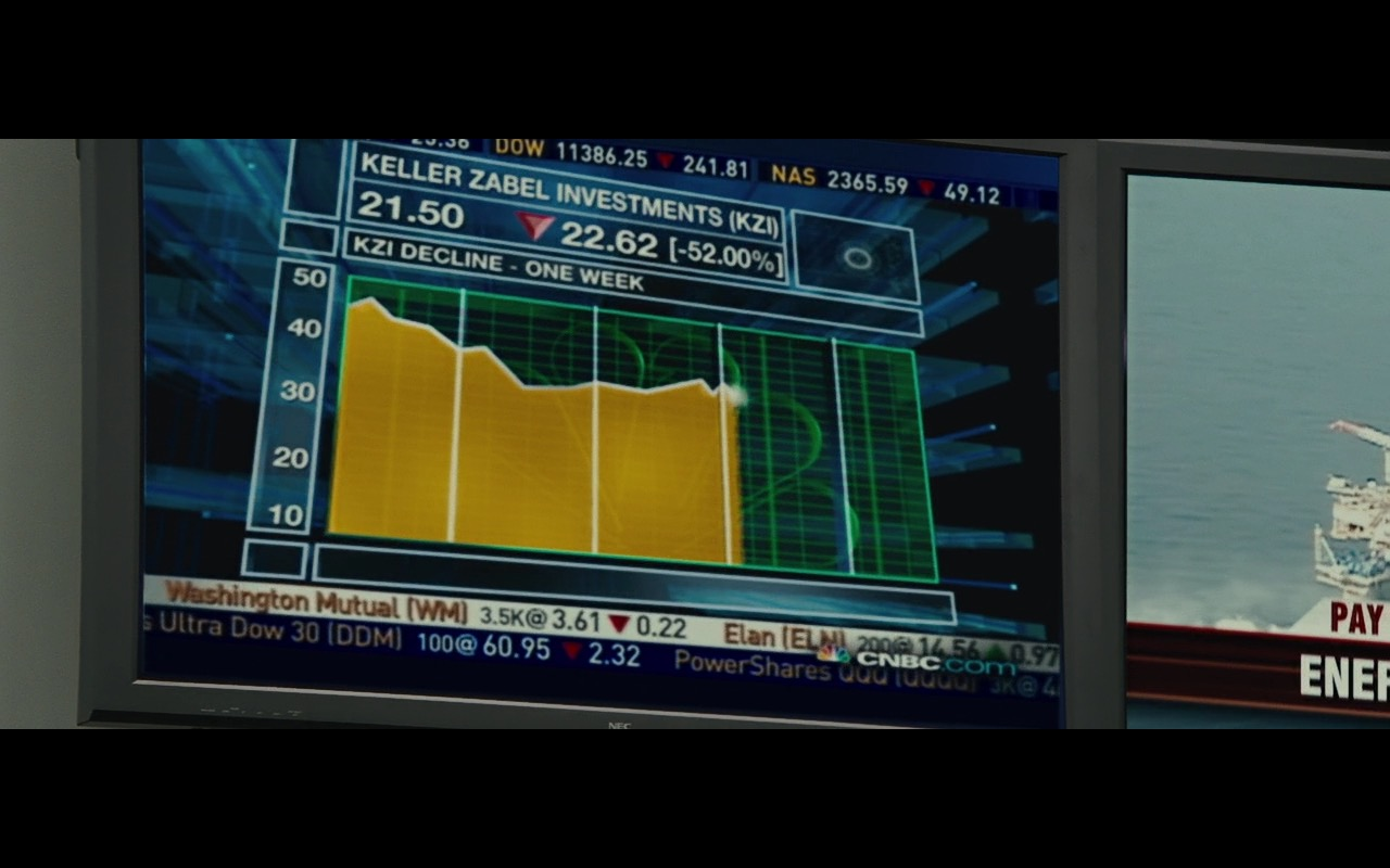NEC TV and CNBC TV Channel – Wall Street: Money Never Sleeps (2010) Movie Product Placement
