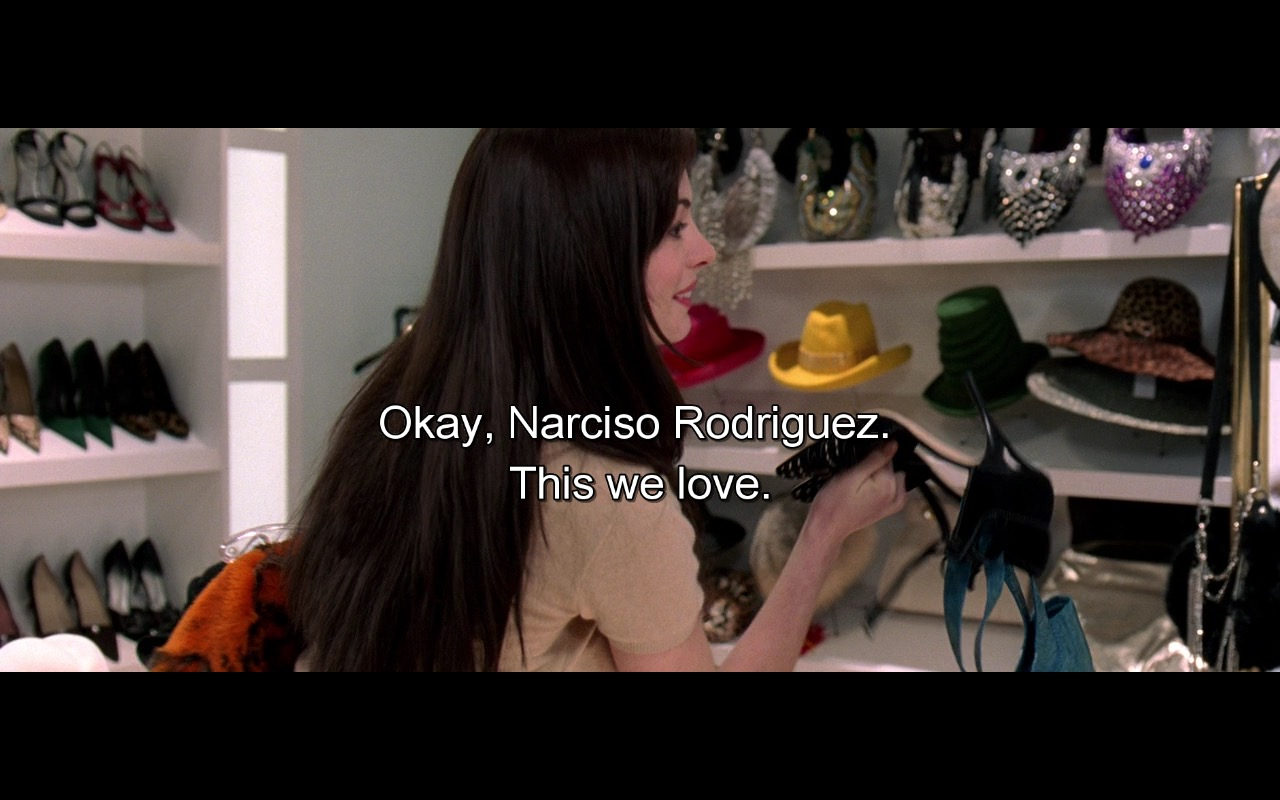 Narciso Rodriguez – The Devil Wears Prada (2006) Movie Product Placement