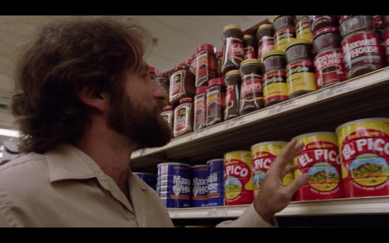 Nescafé, El Pico and Folgers Coffee – Moscow on the Hudson (1984) Movie Product Placement