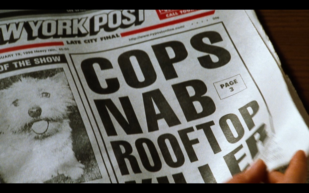 New York Post Newspaper – You've Got Mail (1998) Movie Product Placement